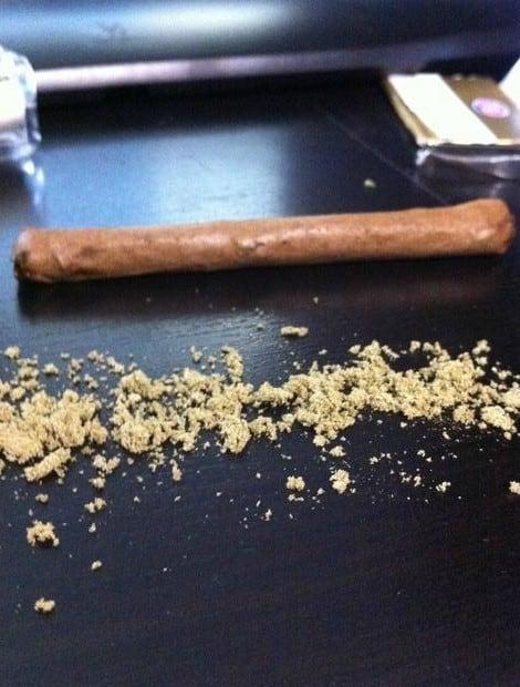 kief on a joint
